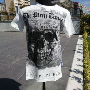 PHILIPP PLEIN MEN T-SHIRT CASUAL NWT %100 COTTON